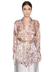 Etro Floral Printed Silk Georgette Shirt