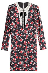 The Kooples Printed Dress With Lace Collar Florals