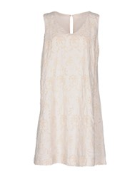 120 Lino Short Dresses Ivory