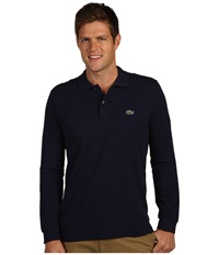 Lacoste L S Classic Pique Polo Navy Blue Men's Long Sleeve Pullover