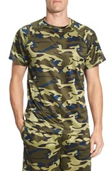 Men's Majestic International Camo Crewneck T Shirt Green