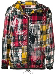Palm Angels Patchwork Plaid Windbreaker Red