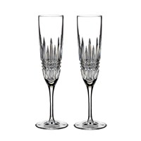 Waterford Lismore Diamond Toasting Flutes Set Of 2