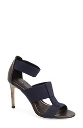 Women's Elie Tahari 'Seneca' Sandal Dark Navy Black Leather