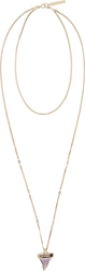 Givenchy Silver Tiered Small Shark Tooth Necklace