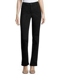 Nydj Marilyn Straight Denim Jeans Black