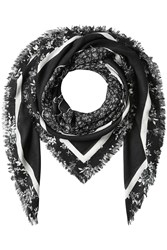 Mcq By Alexander Mcqueen Printed Scarf With Cotton Grey