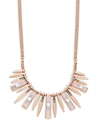 Design Lab Lord And Taylor Statement Bar Necklace Rose Gold