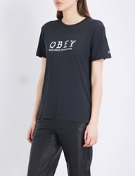 Obey Olde Cotton Jersey T Shirt Black