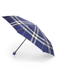 Burberry Check Trafalgar Folding Packable Umbrella Bright Rose
