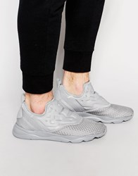 Reebok Furylite Slip On Woven Trainers In Grey V70818 Grey