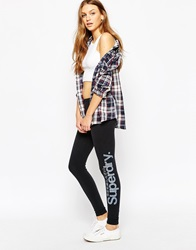 Superdry Glitter Logo Legging Black
