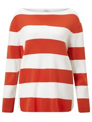 Gerry Weber Bold Stripe Jumper Orange White