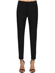 Saint Laurent Skinny Wool Gabardine Pants Black
