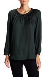 14Th And Union Peasant Blouse Petite Green