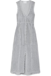 Alice Mccall Magic Metallic Open Knit Midi Dress Stone