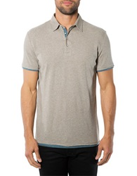 7 Diamonds Ultimate Contrast Trimmed Polo Shirt Sand
