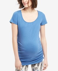 Motherhood Maternity Scoop Neck Tee Dutch Blue