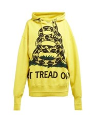 Vetements Snake Print Cotton Sweatshirt Yellow
