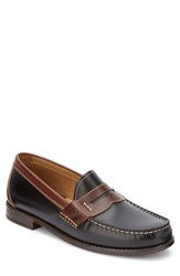 G.H. Bass And Co. Wagner Penny Loafer Black Dark Brown Leather