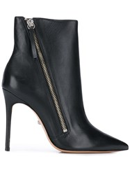 Schutz Pointed Toe Ankle Boots Black