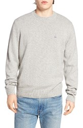 Psycho Bunny Men's Wool Blend Sweater Heather Grey