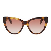 Gucci Tortoiseshell Soft Cat Eye Sunglasses