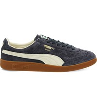 Puma Madrid Low Top Suede Trainers Dress Blue Suede