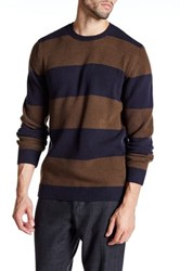 Whyred Colorblock Stripe Sweater Blue