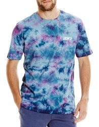 Bench Printed Cotton Tee Blue