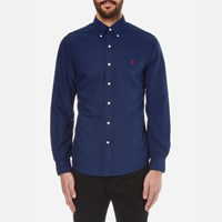 Polo Ralph Lauren Men's Slim Fit Long Sleeve Shirt Holiday Navy Blue