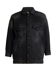 R 13 Trucker Denim Jacket Black