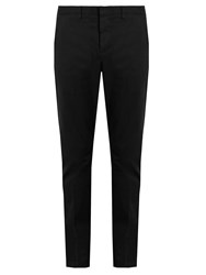 Ami Alexandre Mattiussi Slim Leg Stretch Cotton Chino Trousers Black