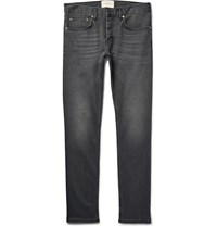 Sandro Iggy Skinny Fit Stretch Denim Jeans Dark Gray