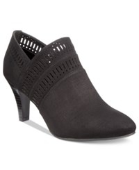 Karen Scott Marius Perforated Dress Booties Only At Macy's Women's Shoes Black