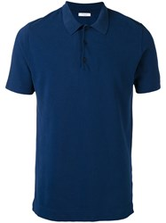 Boglioli Spread Collar Polo Shirt Men Cotton S Blue