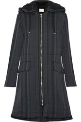 3.1 Phillip Lim Hooded Jacquard Coat Black