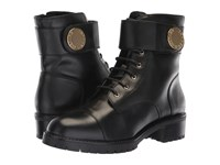 Emporio Armani Calf Leather Boot Black Boots