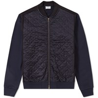 Dries Van Noten Hamish Quilted Bomber Jacket Blue