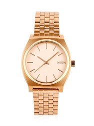 Nixon Time Teller Rose Gold Finish Watch