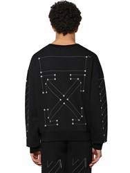 Off White Backbone Print Cotton Jersey Sweatshirt Array 0X57592d8