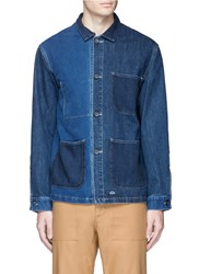 Bleu De Paname Patchwork Denim Jacket Blue