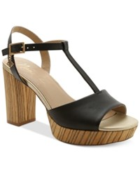 Nanette By Nanette Lepore Venus T Strap Platform Sandals Women's Shoes Black