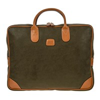 Bric's Life Laptop Briefcase Olive Tan