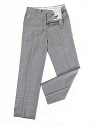 Oscar Jacobson Prince Of Wales Performance Trousers Grey Marl