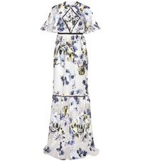 Erdem Jules Embroidered Gown White