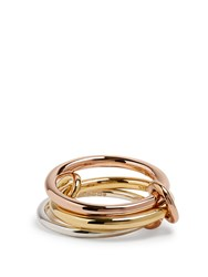 Spinelli Kilcollin Raneth Silver Yellow And Rose Gold Ring