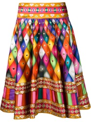 Manish Arora Embellished A Line Skirt Multicolour