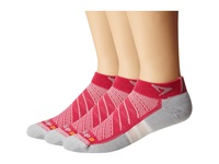 Drymax Sport Max Cushion Run Packaged Mini Crew 3 Pair Pack Oct Pink Crew Cut Socks Shoes