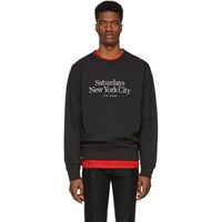 Saturdays Surf Nyc Black Miller Standard Bowery Sweatshirt